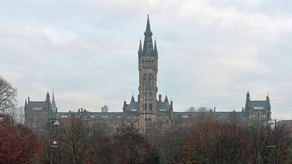Photograph - University Of Glasgow At Sunrise - Panorama by Maria Gaellman