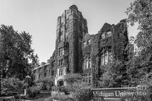 Arbor Photograph - University Of Michigan Michigan Union by University Icons