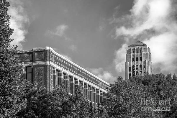 Arbor Photograph - University Of Michigan Natural Sciences Building With Burton Tower by University Icons