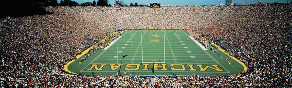 Crowds Wall Art - Photograph - University Of Michigan Stadium, Ann by Panoramic Images