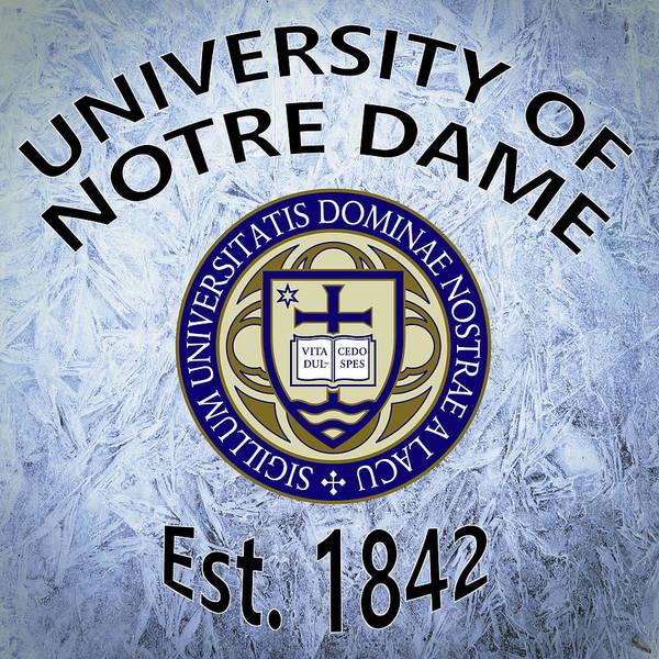 Digital Art - University Of Notre Dame Est. 1842 by Movie Poster Prints
