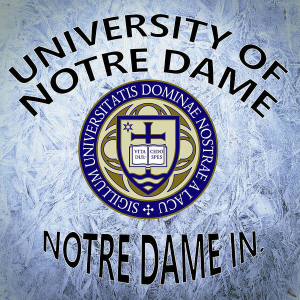 Digital Art - University Of Notre Dame Notre Dame In. by Movie Poster Prints