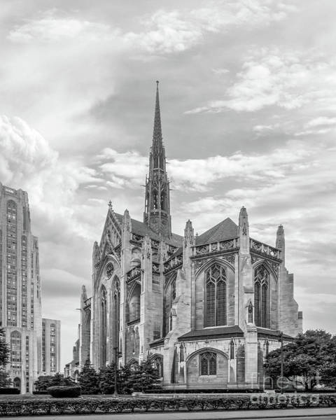 Neighborhood Photograph - University Of Pittsburgh Heinz Memorial Chapel by University Icons