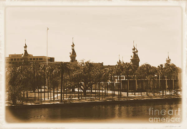 Photograph - University Of Tampa - Old Postcard Framing by Carol Groenen