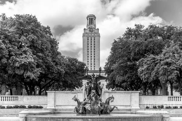 Wall Art - Photograph - University Of Texas Austin Littlefield Fountain by University Icons