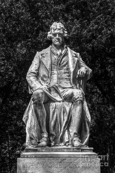 Photograph - University Of Virginia Thomas Jefferson Statue by University Icons