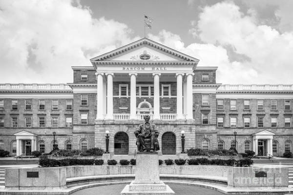 Photograph - University Of Wisconsin Madison Bascom Hall With Lincoln by University Icons