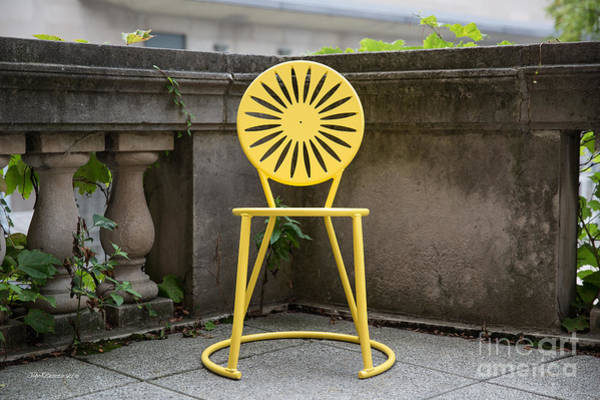 Wi Photograph - University Of Wisconsin Madison Terrace Chair Color by University Icons