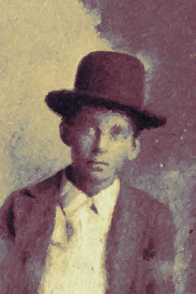 Digital Art - Unknown Boy In A Bowler Hat by Matt Lindley