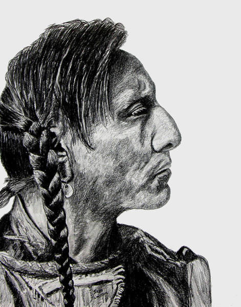 Wall Art - Drawing - Unknown Indian II by Stan Hamilton