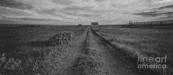 Road Side Photograph - Unknown Road Bw by Michael Ver Sprill
