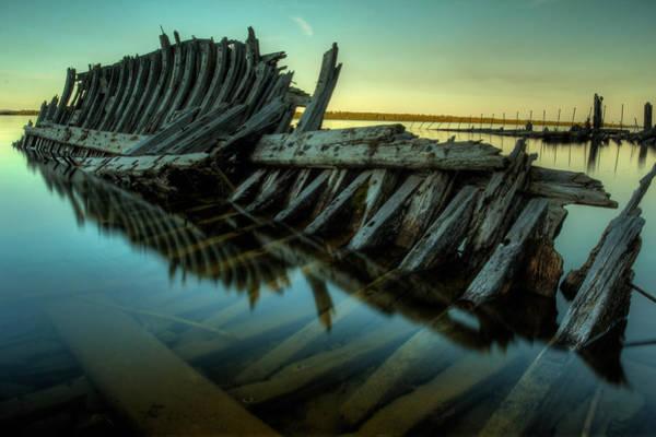 Tug Boat Photograph - Unknown Shipwreck by Jakub Sisak