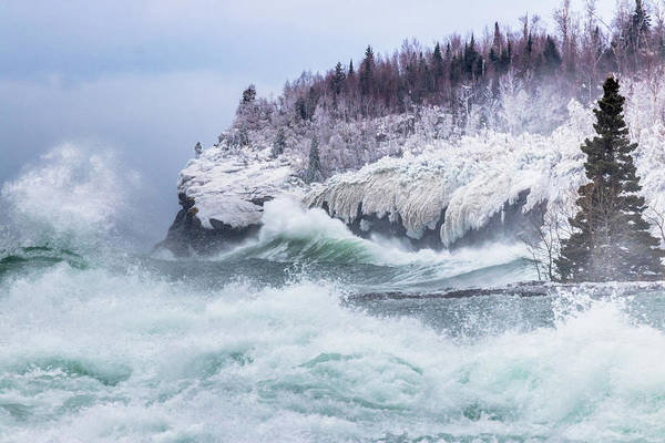 Lake Superior Photograph - Unleashed by Mary Amerman