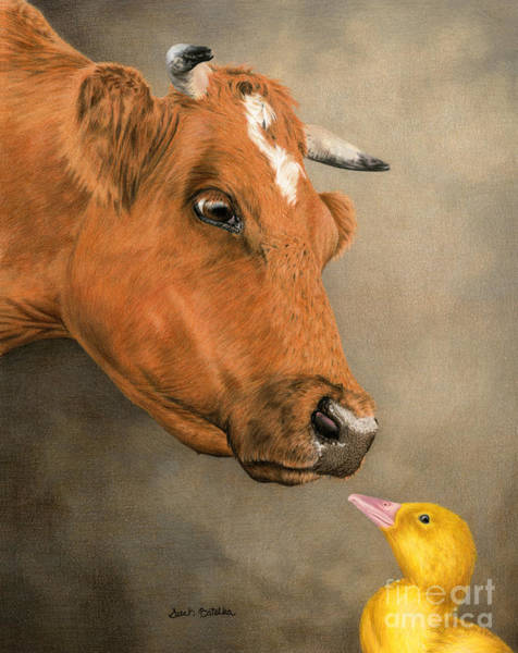 Barnyard Animal Painting -  Friends Come In All Sizes by Sarah Batalka