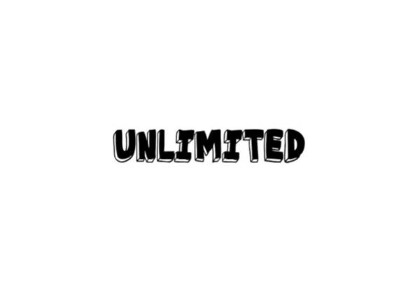 Digital Art - Unlimited - Art Print Poster, One Word Quotes  by Ai P Nilson