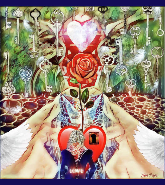 Digital Art - Unlock Love by Jennifer Page