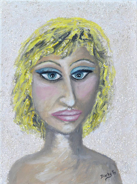 Caricature Mixed Media - Unnatural Blonde by Donna Blackhall