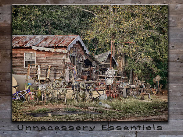 Photograph - Unnecessary Essentials by Charles McKelroy