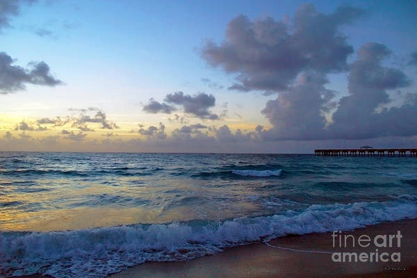 Photograph - Juno Beach Pier Florida Sunrise Seascape C9 by Ricardos Creations