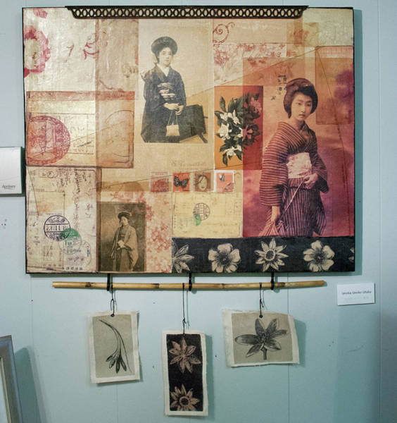 Geisha Mixed Media - Unoka, Unoko, Utaka by Roberta Rose