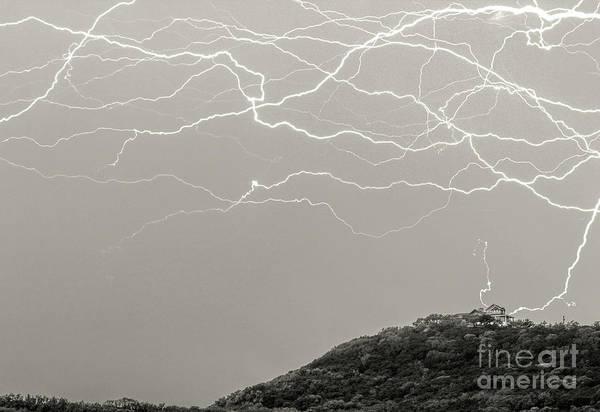 Wall Art - Photograph - Unreal Lightning by Michael Tidwell