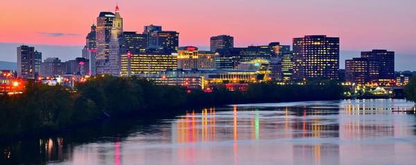 Wall Art - Photograph - Unreal Sunset In Hartford by Frozen in Time Fine Art Photography