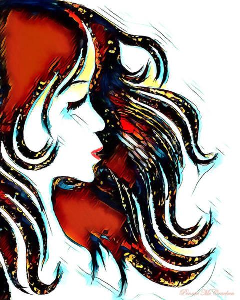 Digital Art - Unrestricted-abstract by Pennie McCracken