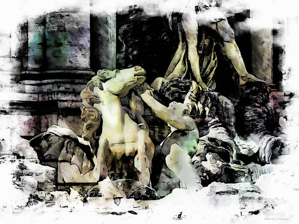 Photograph - Untamed Horse Trevi Fountain by Coleman Mattingly