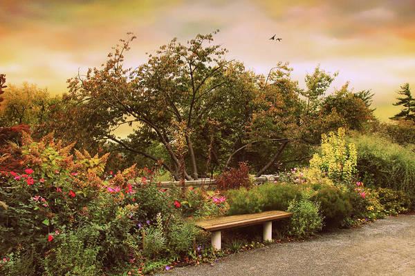 Park Bench Digital Art - Untermyer Respite by Jessica Jenney