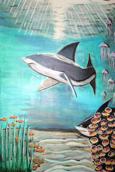 Wall Art - Painting - Unterwasserwelt by Mamu Art