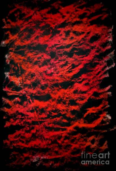 Painting - Red Wall by Tamal Sen Sharma