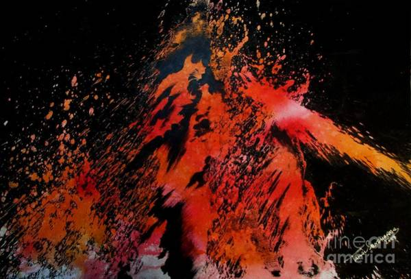 Painting - Volcano by Tamal Sen Sharma