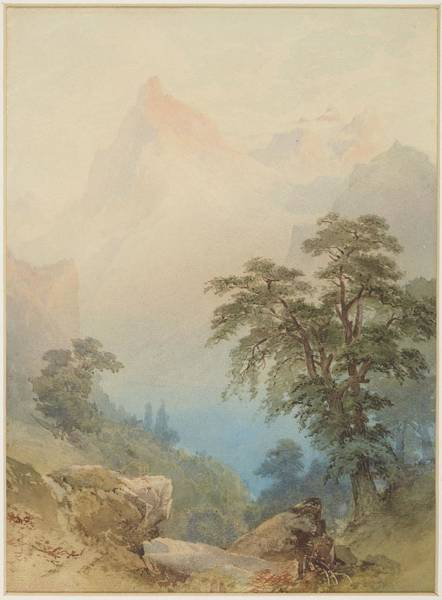 Untitled Painting - Untitled A View Of The Alps, Circa 1884, By Nicholas Chevalier by Celestial Images