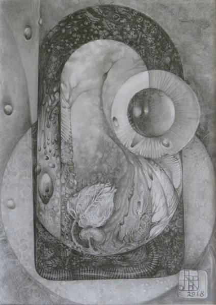 Drawing - Untitled A4 2018-08-01 by Otto Rapp