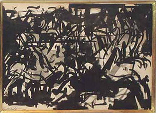 Wall Art - Drawing - Untitled Abstract by Carl Robert Holty