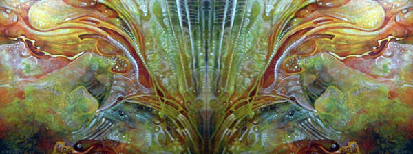 Digital Art - Untitled Abstract Colors 2 - July 2018 - Digital Mirrored by Otto Rapp