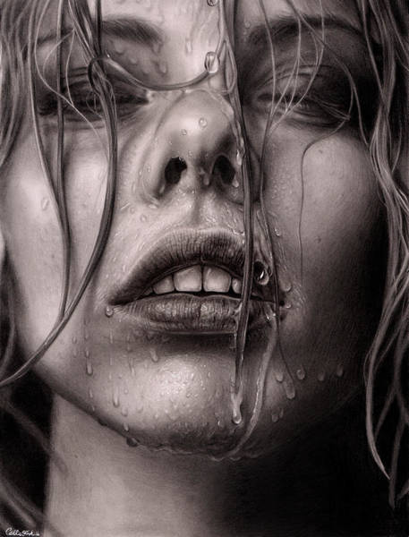 Wet Drawing - Untitled  by Callie Fink