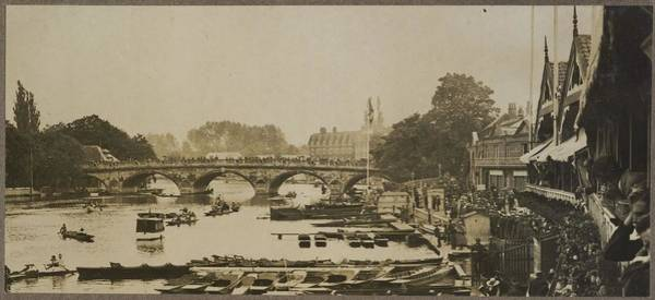 Untitled Painting - Untitled Cambridge Sculls, 1919, By Herbert Green. by Celestial Images