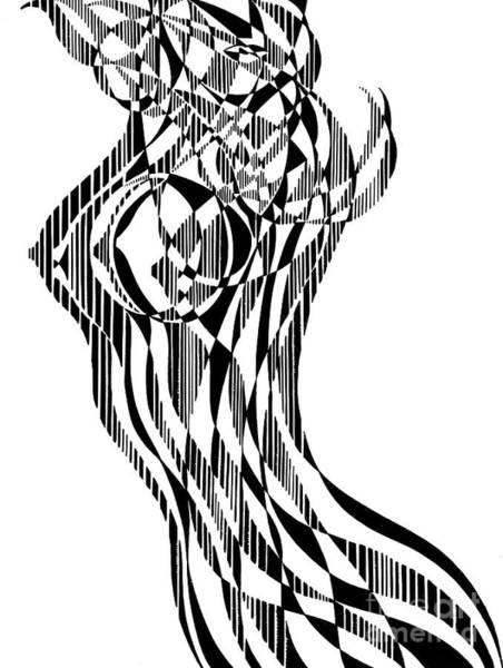 Backdrop Drawing - Untitled,  Female Nude Figure by Manuel Bennett