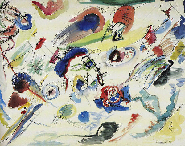 Endless Painting - Untitled First Abstract Watercolor   by Wassily Kandinsky