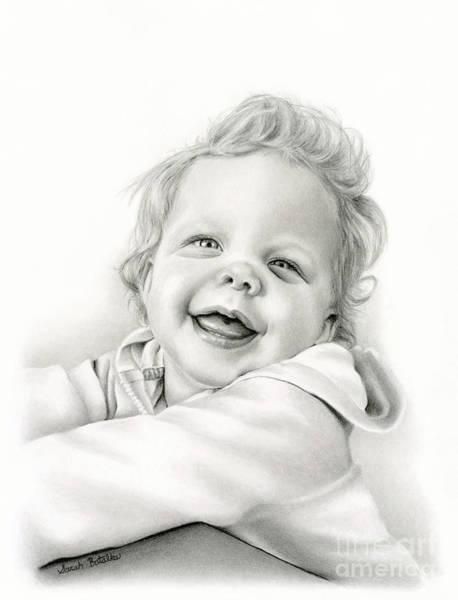 Wall Art - Drawing - Laughing Eyes by Sarah Batalka