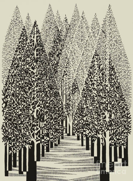 Wall Art - Painting - Untitled   Trees by Manuel Bennett