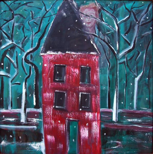 Painting - Untold Story Of The Red House by Katt Yanda