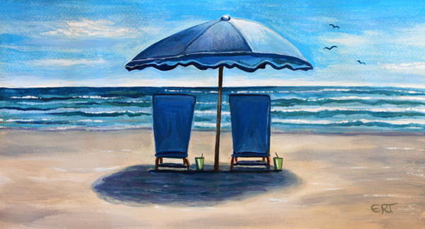 Painting - Unwind At The Beach by Elizabeth Robinette Tyndall