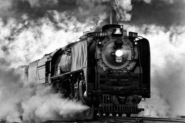 Steam Engine Photograph - Up 844 Steaming It Up by Bill Kesler