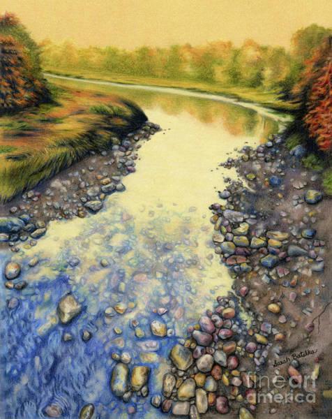 Pebble Painting - Up A Creek by Sarah Batalka