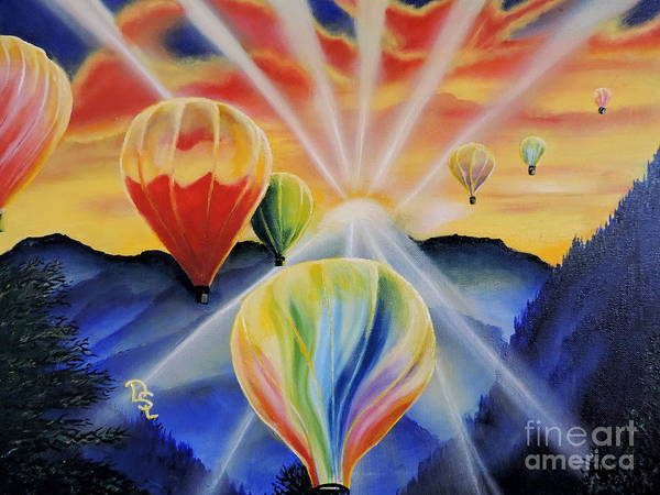 Wall Art - Painting - Up And Away by Dianna Lewis
