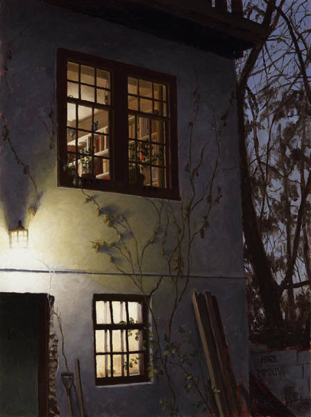 Painting - Up At Dining Room Window by Harry Steen