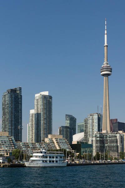 Photograph - Up Close And Personal - Toronto Skyline From The Harbor by Georgia Mizuleva