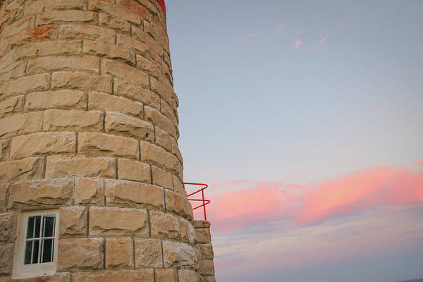 Photograph - Close-up Detail Of The Cape Moreton Lighthouse by Keiran Lusk